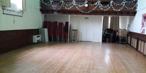 Wooden floor and balcony in the Woodway Room at Chudleigh Town Hall