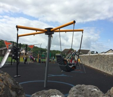 Rotating swing at Fore Street park