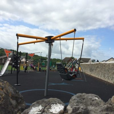 Rotating swing at Fore Street park - Click to open full size image