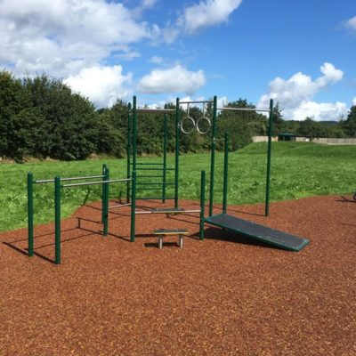 Outdoor gym at Mill Meadow - Click to open full size image