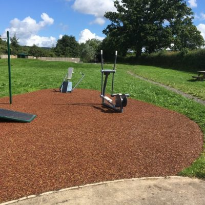 Another view of outdoor gym equipment at Mill Meadow - Click to open full size image