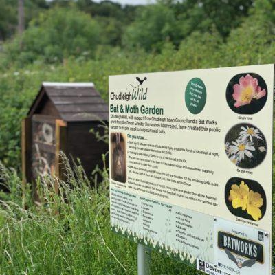 Bat Garden Sign And Bug House