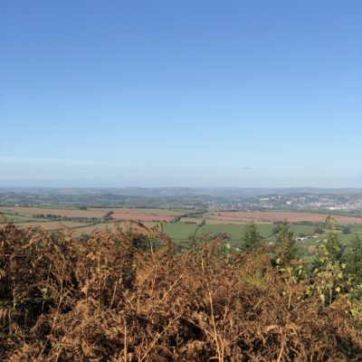 View of Exeter on a sunny day from haldon forest - Click to open full size image
