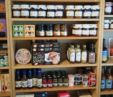 Local Produce on display in Harveys Cafe