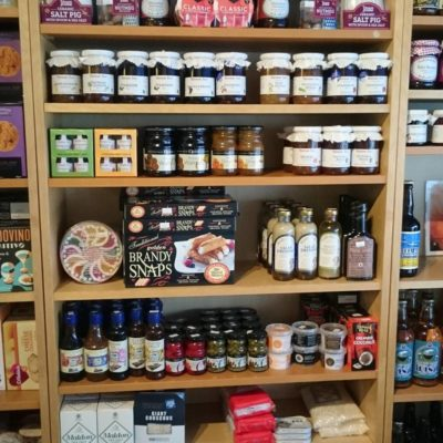Local Produce on display in Harveys Cafe - Click to open full size image