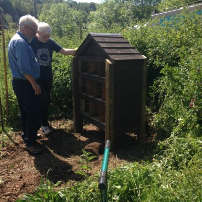 Bug Hotel Being Fixed
