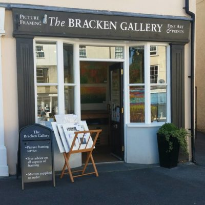 Shop Front Of The Bracken Gallery In Chudleigh - Click to open full size image