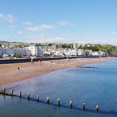 Teignmouth beach - Click to open full size image